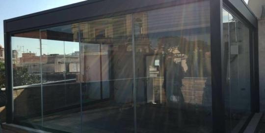 vetrata scorrevole roma